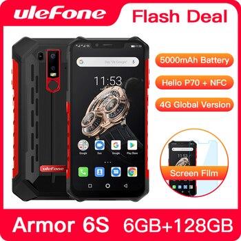 Перейти на Алиэкспресс и купить Обновленный прочный мобильный телефон Ulefone Armor 6S IP68 NFC, Восьмиядерный процессор Helio P70, на базе Android 9,0, 6 ГБ 128 ГБ, смартфон с беспроводной зарядк...