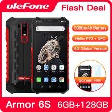 Mise à niveau Ulefone Armor 6S IP68 NFC téléphone portable robuste Helio P70 otca core Android 9.0 6GB 128GB Smartphone de charge sans fil