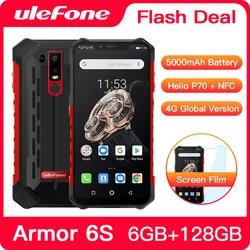 Перейти на Алиэкспресс и купить upgrade ulefone armor 6s ip68 nfc rugged mobile phone helio p70 otca-core android 9.0 6gb 128gb wireless charge smartphone