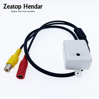1Pcs Hohe Empfindlichkeit Mini MIC CCTV Mikrofon Audio Pickup Gerät zu Cinch-buchse DC Weibliche Kabel Adapter für Kamera sicherheit DVR