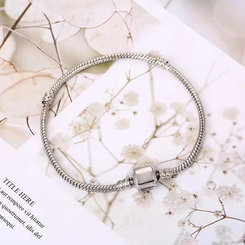 Chất Lượng cao 16-21 cm Rắn Dây Chuyền Liên Kết Vòng Tay Phù Hợp Với Châu Âu Charm DIY Vòng Tay Vòng cho Nữ DIY Thời Trang bộ trang sức Làm quà tặng