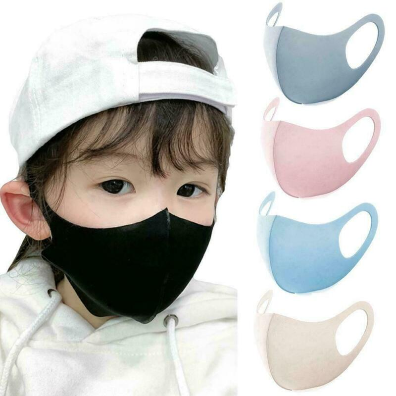 3 Pcs Children's Masks Kids Protective Masks Reusable Cotton Dust-Proof Wind-Proof And Fog-Proof Mask Mouth Mask Washable Newest