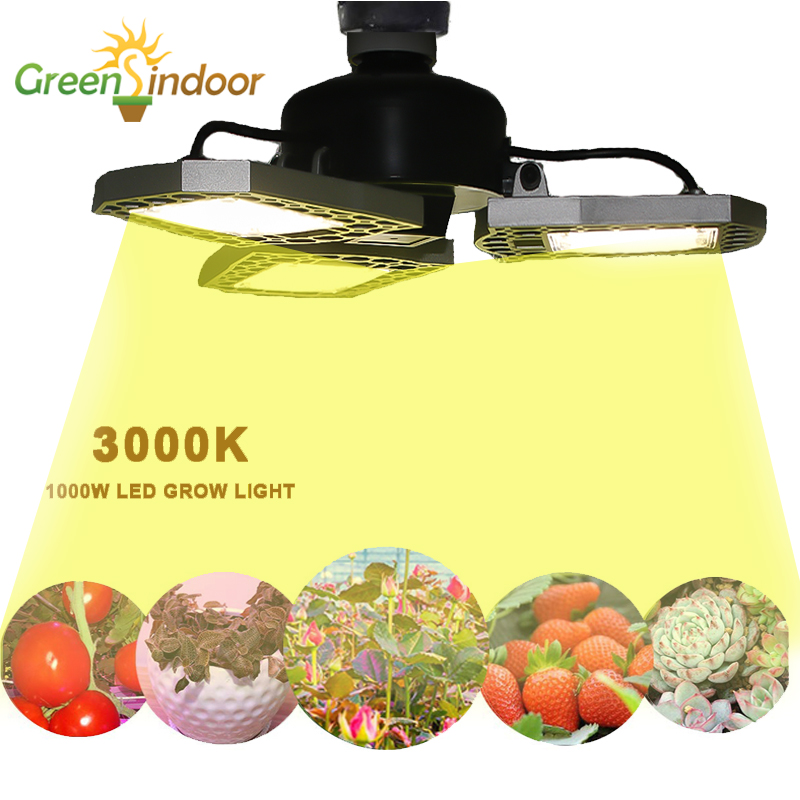 Led Grow Light 1000W Phyto Lamp 3000K Indoor Lamp For Plants Full Sepctrum Phytolamp E27 Led Lights For Indoor Growing Fitolampy