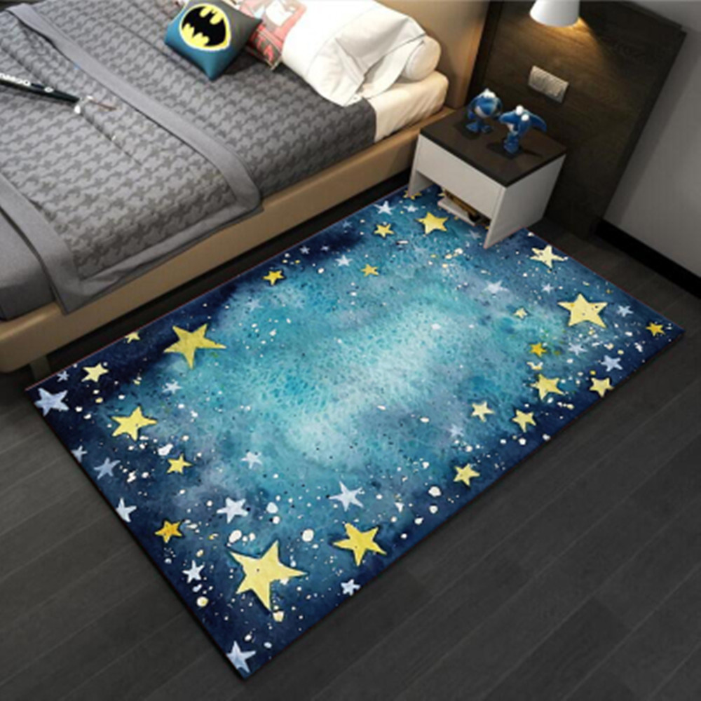 3D Designer Galaxy Space Star Printed Carpets For Living Room Bedroom Area Rug Kids Room Crawl Tatami Rugs Child Play Floor Mats