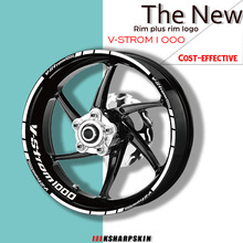 Stickers Moto Vstrom SUZUKI Car-Wheel-Decal Logo Reflective Stripe Waterproof 1000