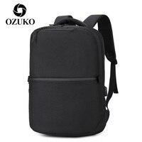 OZUKO Männer Reise Laptop Rucksack 15,6 Zoll USB Lade Anti Theft BagPack Männlichen Multifunktions Schul Wasserdichte Taschen Mochila