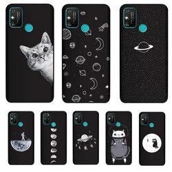 На Алиэкспресс купить чехол для смартфона pensen soft tpu cover for huawei honor play 9a case matte painting phone cases cat coque
