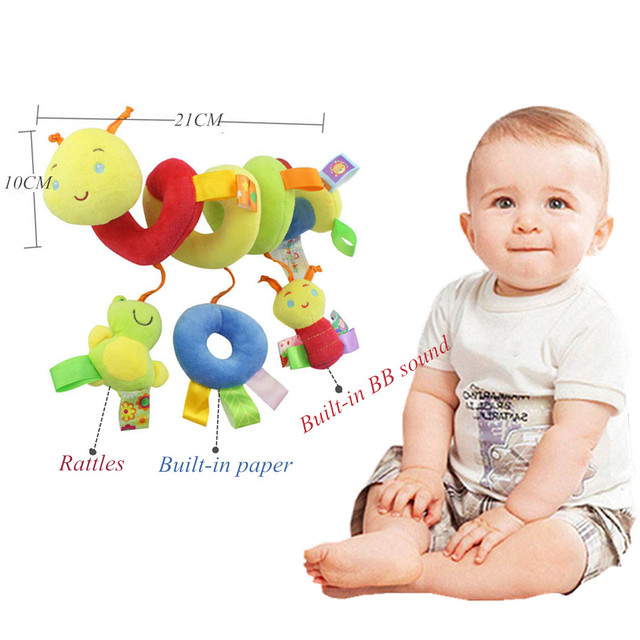 Zachte Baby Wieg Bed Wandelwagen Speelgoed Spiraal Baby Speelgoed Voor Pasgeborenen Autostoel Educatief Rammelaars Baby Handdoek baby Speelgoed 0 -12 maanden 1
