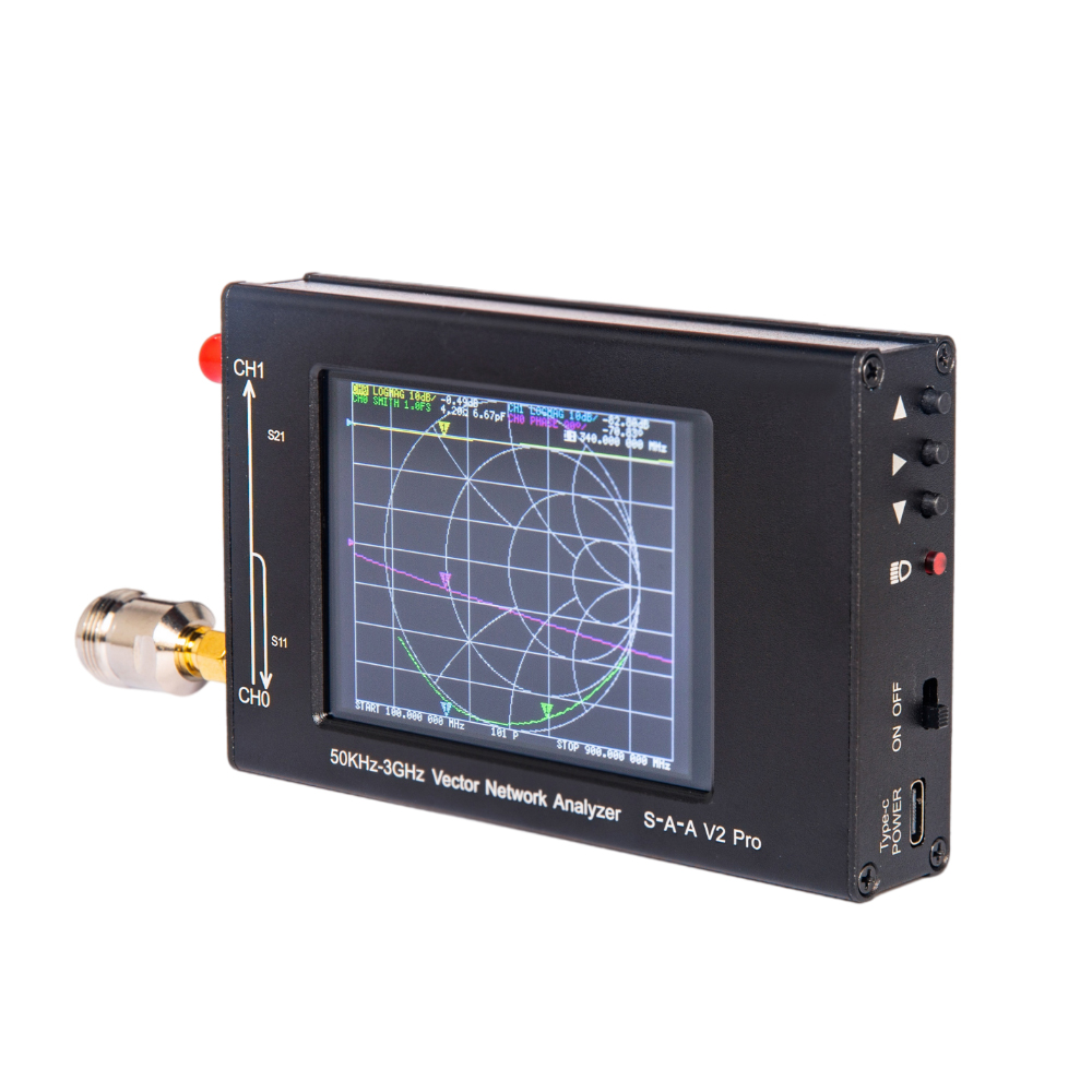 S-A-A-2 NanoVNA V2 Pro вектор сетевой анализатор 50 кГц-3 ГГц VNA анализатор антенны для HF VHF Любительская рация