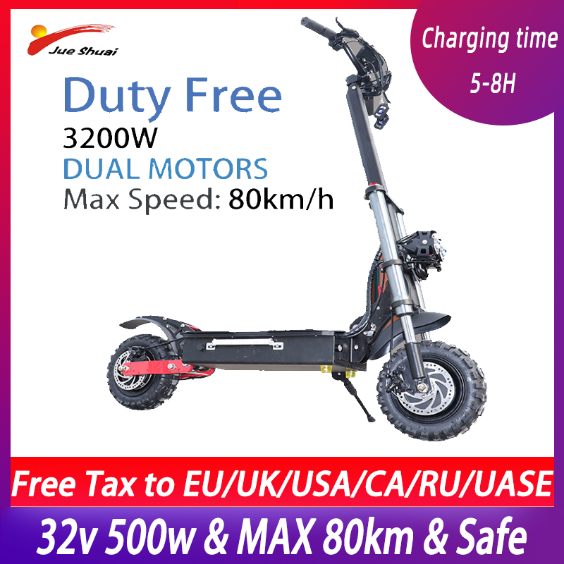 Powerful 60V3200W <font><b>Electric</b></font> <font><b>Scooter</b></font> for Adults High Speed 80kmh Foldable Dual <font><b>Motors</b></font> Double Engine Off Road <font><b>Motor</b></font> <font><b>Wheel</b></font> E <font><b>Scooter</b></font> image