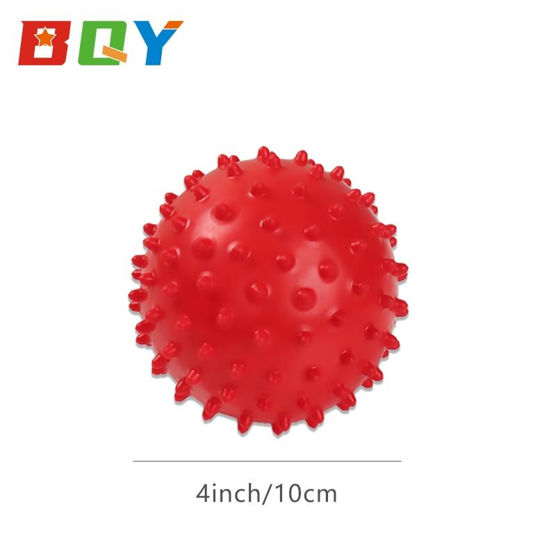 BQY Baby Textured Multi Sensory Massage Ball Knobby Balls Assorted Colors Bounce Ball Sensory Spikey Ball