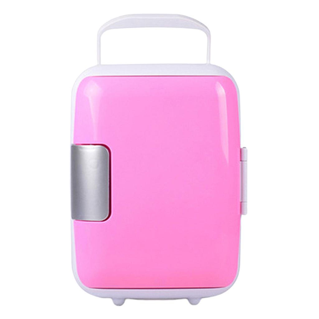 Blesiya Travel Refrigerator 4L Mini Car Fridge Cooler Warmer Home Office Freezer