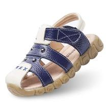 2019 Children s Fashion Sandals Boys Beach Shoes Buckle Baby Genuine Leather Outdoor Kids Non - Slip Flat