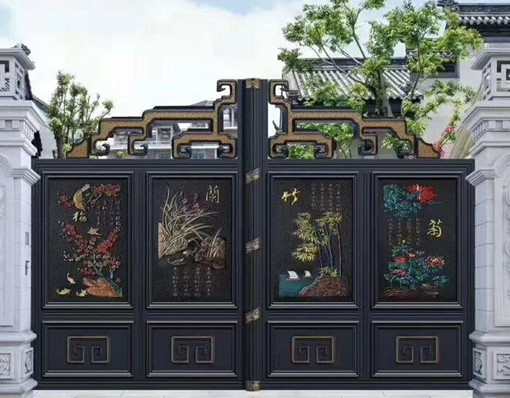 China Factory Wholesale Beautiful Iron Main Gate Designs In Pakistan