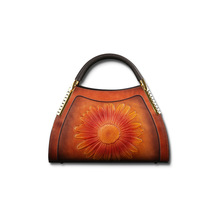 Genuine Leather Vintage Embossing Women Handbags 2020 New Fashion Casual Tote Cowhide Leisure Shoulder&Crossbody Bags tomubird 2018 new women genuine leather bag handmade embossing flower top cowhide luxury tote women leather shoulder bags