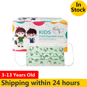 Cartoon Kitty Children's masks 3 layer Disposable Elastic Mouth Soft Breathable Cute Hygiene Child Kids Face Mask Dropshipping