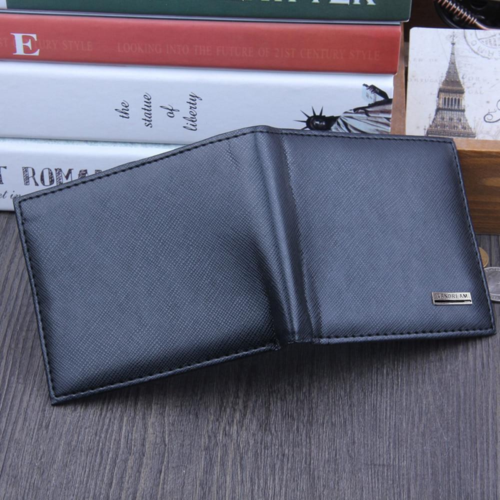 Men Bifold Business Leather Wallet  ID Credit Card Holder Purse men's wallet clutch portfel cuzdan billetera carteira  (23)