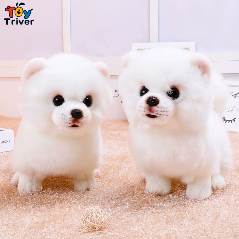 Quality Plush Pomeranian Dog Toy Triver Stuffed Animal Doll Puppy Pet Kids Baby Birthday Gift Present Home Shop Decoration Craft in Stuffed Plush Animals from Toys Hobbies