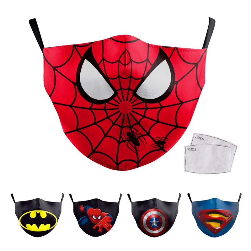 Reusable Children Mouth Mask Cartoon Mask Kids Face Mask Anti Haze Dust Mask Nose Filter Face Mouth