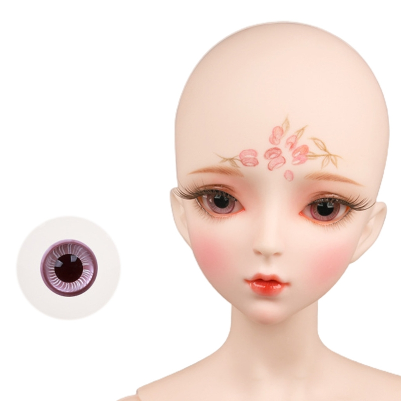 For Bjd Eyeball 14mm Glass Material Green Blue Eyes Suitable For 1/3 1/4 Doll Accessories 25