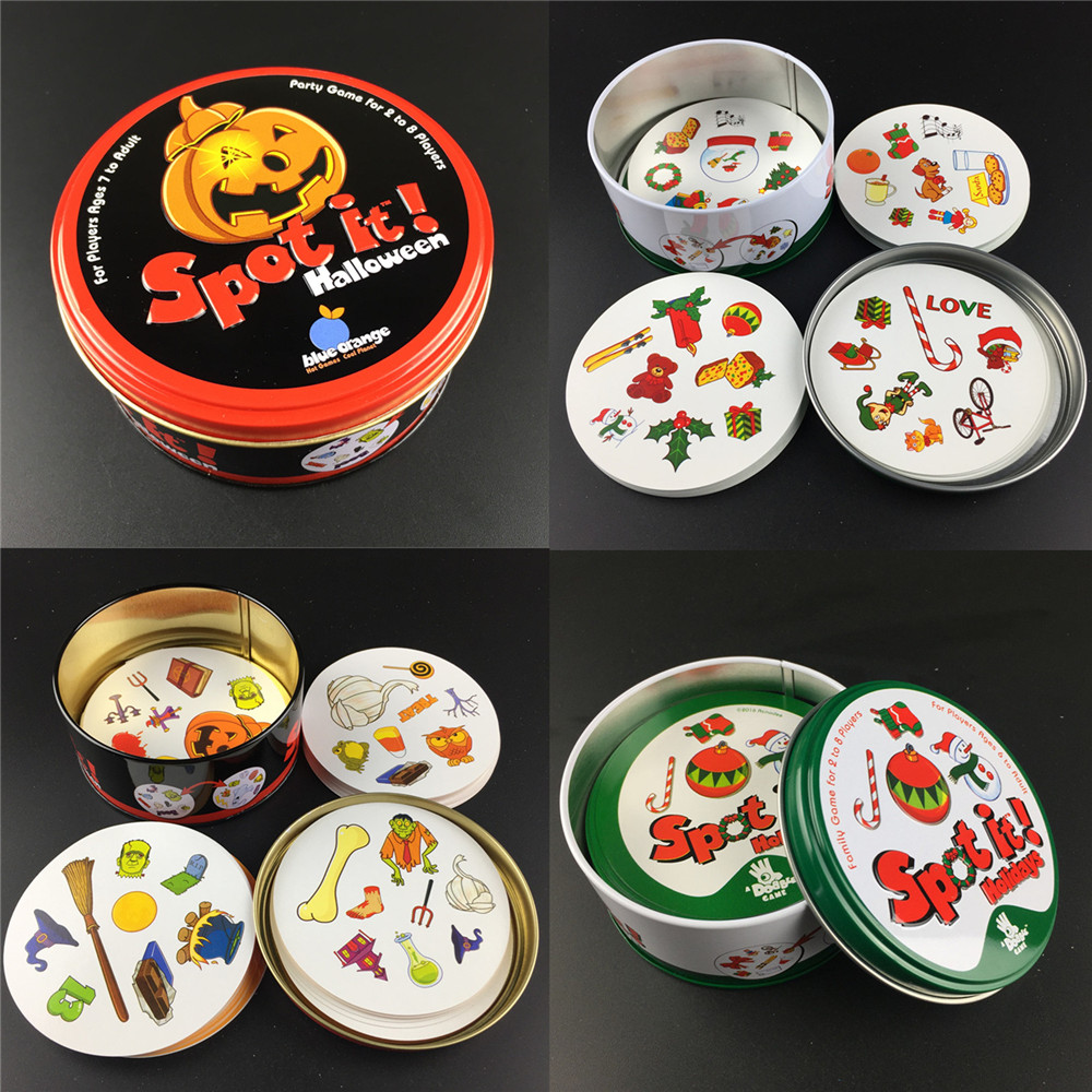 83mm Spot Board Games Big Size Style For Kids Like It Classic Education Dobble Card Game English Version Home Party Fun