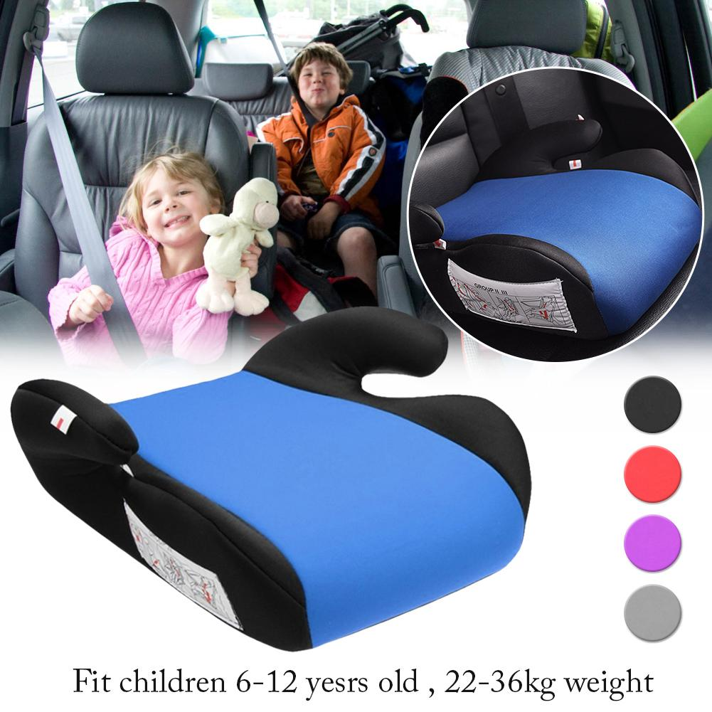 New Car Booster Seat Safe Sturdy Kids Children Child Baby Increased Seat Pad Fits 6-12 Years Non-slip Car Booster Seat For Kids