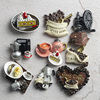 Nordic ins home decoration 3D food macarone coffee refrigerator paste magnetic Coffee cake kettle fridge magnet collection gifts 1