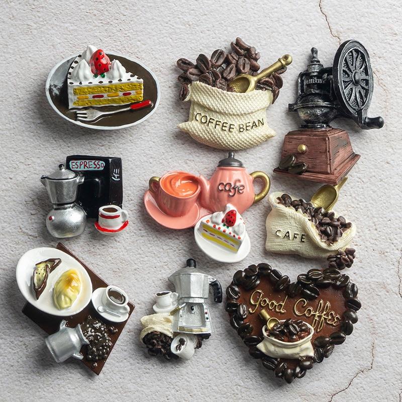 Нордические украшения для дома, 3D еда макарон, кофе, холодильник, магнитная паста, торт, чайник, холодильник, магниты, коллекция подарков|Магниты на холодильник|   | АлиЭкспресс - Прикольные магниты на холодильник