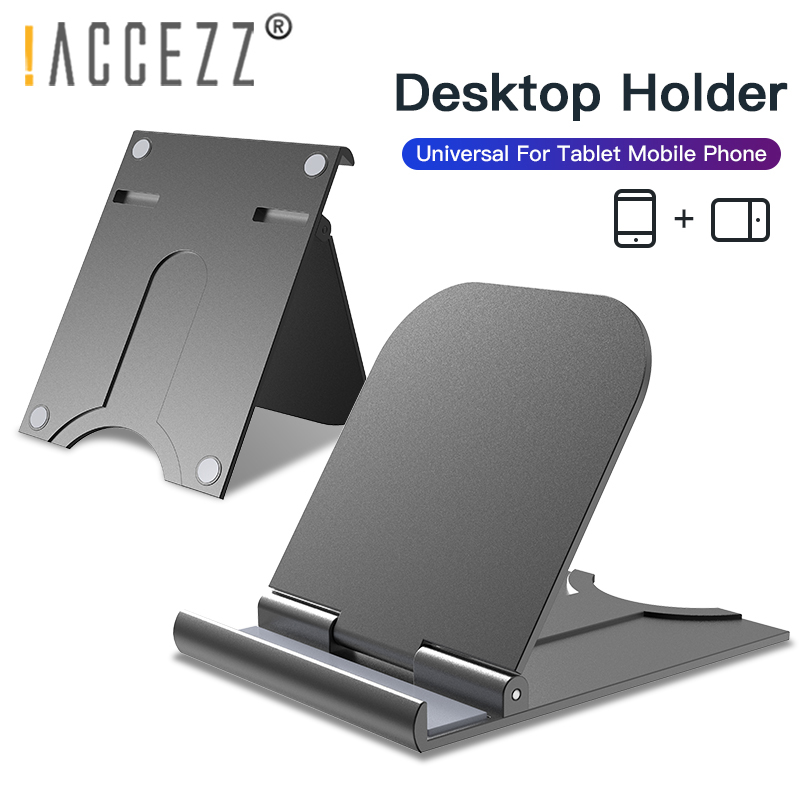 !ACCEZZ Phone Stand Universal Desktop Holder For IPhone 11 Pro 8 X Samsung Support Bracket 180 Degree Adjustable For Ipad Tablet