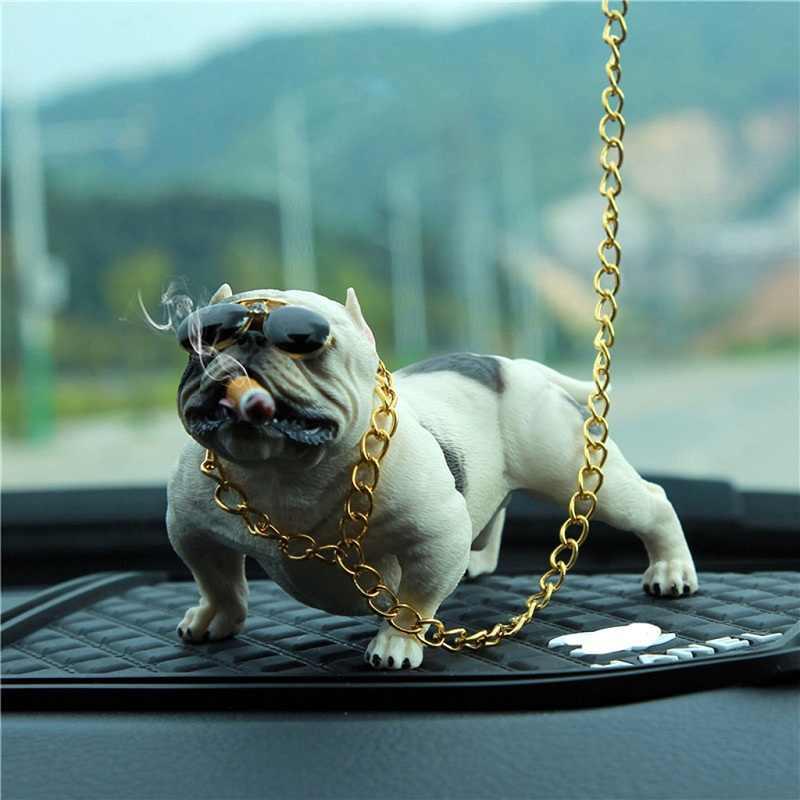 Baru Mobil Anjing Dekorasi Bully Anjing Boneka Ornamen Simulasi Mobil Interior Liontin Home Kantor Dekorasi Mainan Mobil Interior Aksesoris Y7