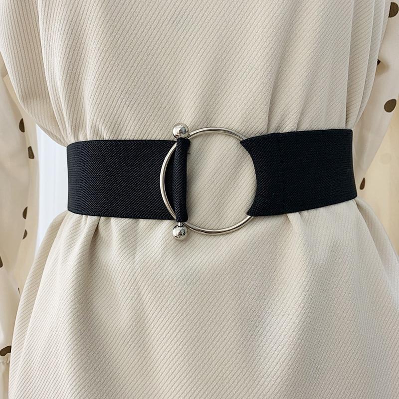 Easy Belt Without Buckle Woman Waist Corset Belts For Women Wide Cummerbunds Designer Elastic Big Ceinture Dress Belt Plus Size