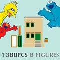 Новый 1360 шт. идеи 123 серии фильмов Sesamed улица дома Строительные блоки кирпичики город Streetview цифры Модель игрушки подарок для детей 21324