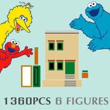 Novo 1360 peças idéias 123 série de filmes sesamed rua casa blocos de construção tijolos cidade streetview figuras modelo brinquedos presente do miúdo 21324