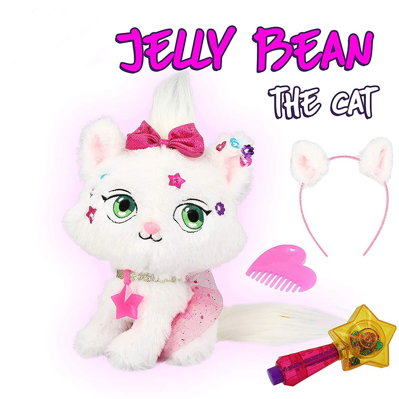 Shimmer Stars Jelly Bean The Cat Plush Doll Accesories Kids DIY Animal Cat Decoration Pet Stuffed Dolls Toy Girls Birthday Gift