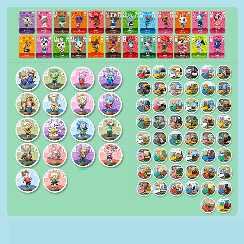 Animal Crossing <font><b>Card</b></font> <font><b>Amiibo</b></font> <font><b>card</b></font> New Horizons for NS Games Series kit <font><b>amiibo</b></font> locks <font><b>NFC</b></font> <font><b>Card</b></font> Work for nintendo <font><b>switch</b></font>/<font><b>switch</b></font> lite image