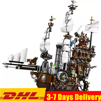 Ideas Movie 2 3D City Pirate Ship Metal Beard's Sea Cow Building Blocks Sets Kits Bricks Kids Boy Gift Toys Compatible