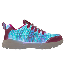 Shoes Fiber-Optic Glowing Sneakers Light-Up Girls Recharge Boys Women Summer Led