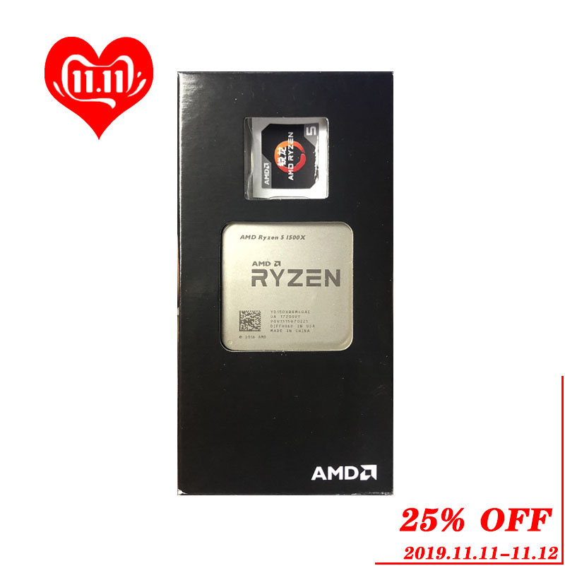AMD Ryzen 5 1500X R5 1500X 3.5 GHz Quad Core CPU Processor YD150XBBM4GAE Socket AM4-in CPUs from Computer & Office