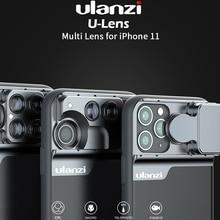 울란지 폰 케이스 3 in 1/5 in 1 폰 렌즈 CPL 필터/10X/20X 매크로/어안/2X 망원 렌즈 for iPhone 11/11 Pro/11 Pro Max