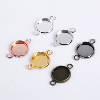 10-20Pcs/Lot Cabochon Base Tray Bezels Bracelet Necklace Diy Accessories Blank Charms Pendant Setting Base For Jewelry Making 18x25mm round glass cabochon base setting pendant tray for jewelry diy making diy accessories for jewelry