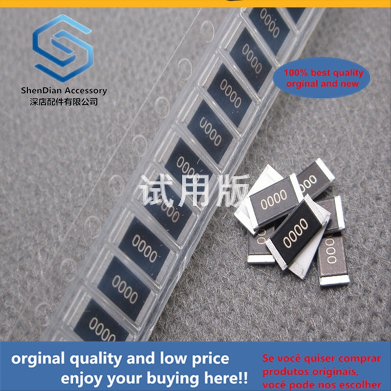 50pcs 100% Orginal New Best Quality SMD Thick Film Resistor 2512 0R Silkscreen 0 --- 000 Accuracy 1% Power 1W 0 Ohm