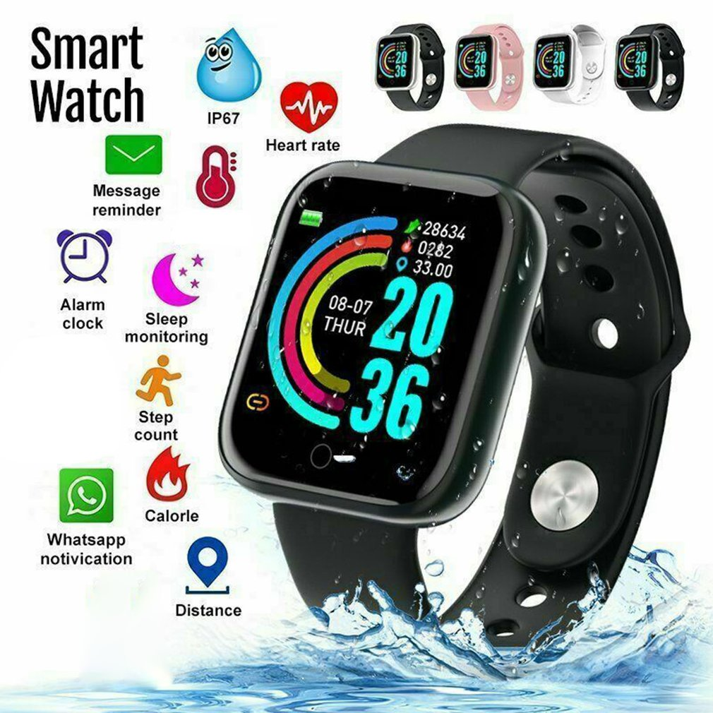 New Y68 Color Screen Smart Bracelet Real-Time Sleep Monitoring Anti-lost Function Smart Alarm Clock Sedentary Reminder