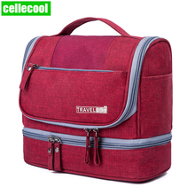 Carry On Case Waterproof Double Layer Travel Toiletry Kit for Men Women Portable Makeup Pouch Cosmetic Bags Beauty Bag Organizer