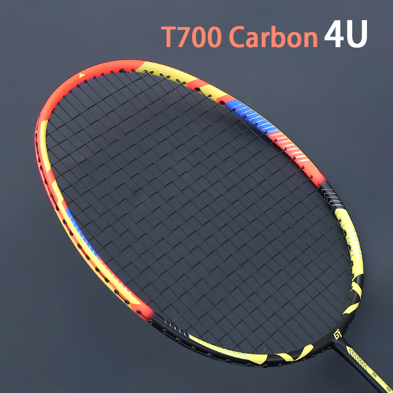 Ultralight Strung 4U 80±5g Full Carbon Badminton Racket Professional Multicolor Strings Bags Padel Rackets Sports Raquetas