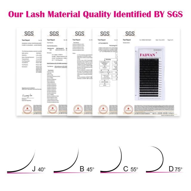 16 Rows False Eyelashes Extensions Lashes Eyelash Extension C D Curl Fadvan Natural Mink Eye Lashes Eyelashes For Building 5