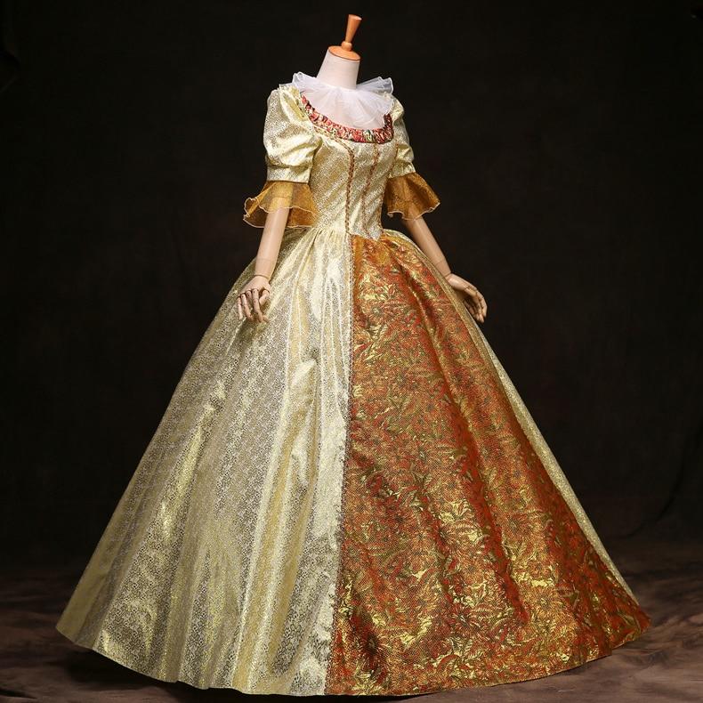 Autumn and Winter 2020 new ladies'court dress performance Queen's Royal European Court dress