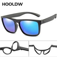 HOOLDW 2020 Novas Crianças Óculos De Sol Quadrado Polarizada Óculos Crianças óculos de Sol Meninos Meninas Silicone Breakproof UV400 Bebê Eyewear
