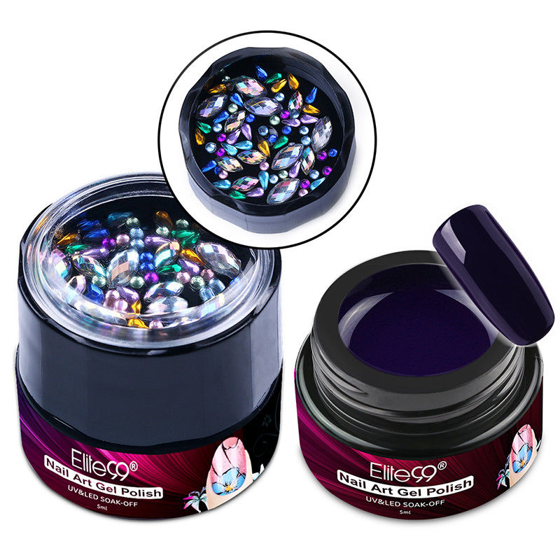 Elite99 5ml 3D Painting Gel Polish Gel Liner With Bling Diamond Nail Art Decoration Manicure Permanent Enamel Nail Gel Lacquer