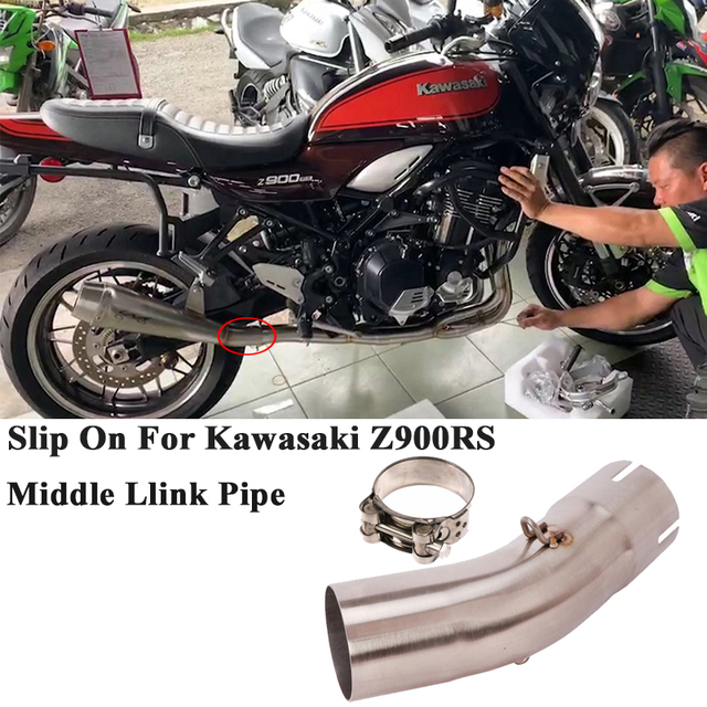 Slip On For Kawasaki Z900RS 2017 2018 2019 2020 Motorcycle Exhaust Muffler Modified Connection Middle Tube Link Pipe 51mm