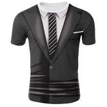 3d casaco terno padrão falso camiseta moda popular engraçado moletom masculino menino personalizado casual camisa